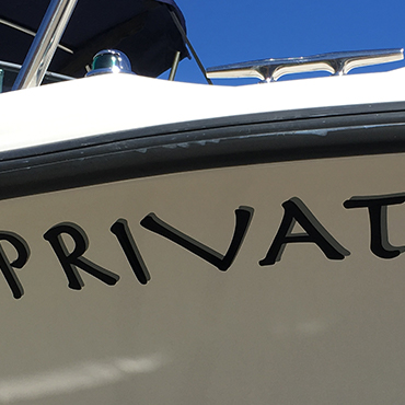 Vinyl Boat Lettering Example #2