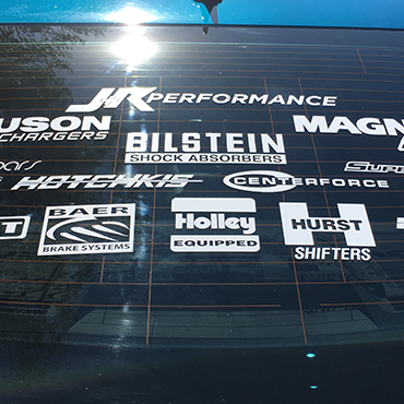 Vinyl Vehicle Lettering Example #4